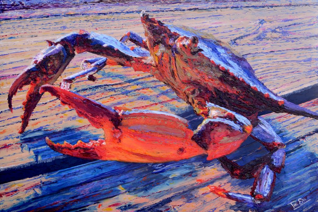 That Crab 30×40 Acrylic in Gel Medium ***Custom Sizes Available