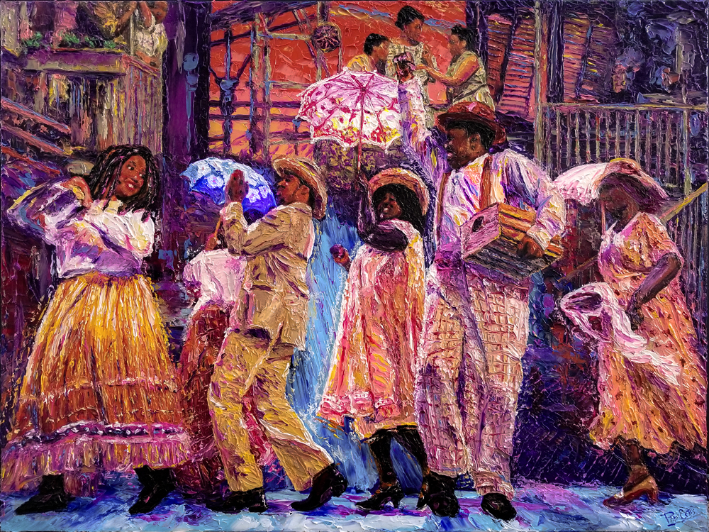 Porgy and Bess Picnic 30x40 Acrylic in Gel Medium ***Custom Sizes Available