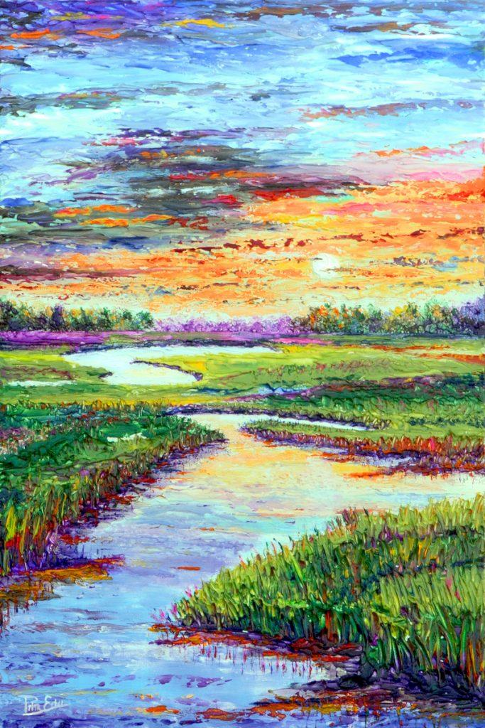 Sunrise Serenade 24x18 Acrylic in Gel Medium ***Custom Sizes Available